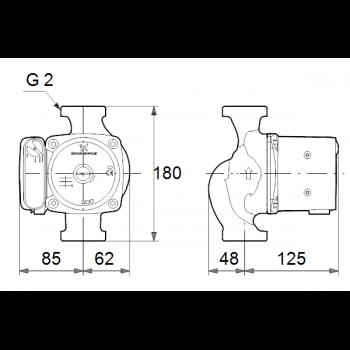 Насос циркуляционный GRUNDFUS UPC 32-80