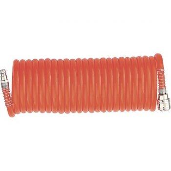 Шланг STELS спиральный воздушный 8 х 12 мм, 18 бар, с быстросъемными соединениями, 10м