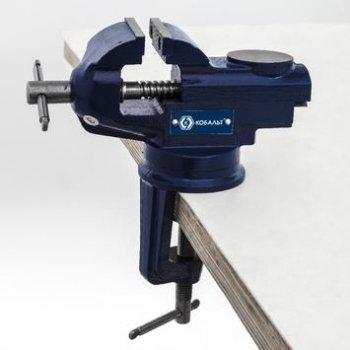 Тиски слесарные  50 мм, настольные, поворотные, наковальня 2,2 кг