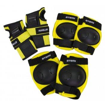 Защита локтей, коленей, запястий детская NEON чёрно-жёлтая